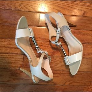 Coach Genesis Soft White Patent Leather Heels